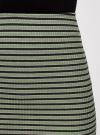Юбка в рубчик на резинке oodji #SECTION_NAME# (зеленый), 14101086/46502/6729S - вид 4