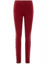 Легинсы трикотажные с принтом oodji для женщины (красный), 18700046-3/47618/4910P