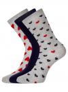 Комплект высоких носков (3 пары) oodji #SECTION_NAME# (разноцветный), 57102902T3/47469/40 - вид 2