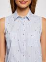Платье хлопковое на кулиске oodji #SECTION_NAME# (белый), 11901147-4B/45202/1075O - вид 4