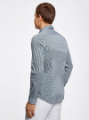 Рубашка extra slim в мелкую клетку oodji #SECTION_NAME# (зеленый), 3B140003M/39767N/1069C - вид 3