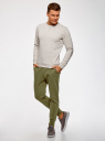 Брюки трикотажные на завязках oodji для мужчины (зеленый), 5B200004M-1/44119N/6600M
