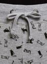 Брюки трикотажные на завязках oodji для женщины (серый), 16701042-1B/46919/2029Q