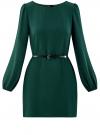 Платье из шифона с ремнем oodji для женщины (зеленый), 11900150-5B/32823/6900N