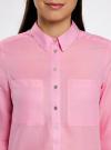 Рубашка хлопковая свободного силуэта oodji #SECTION_NAME# (розовый), 11411101B/45561/4100N - вид 4