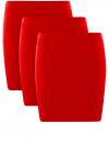 Комплект трикотажных юбок (3 штуки) oodji #SECTION_NAME# (красный), 14101001T3/46159/4500N