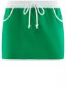 Юбка трикотажная на эластичном поясе oodji #SECTION_NAME# (зеленый), 14101098B/46155/6D10B