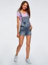 Комбинезон джинсовый с модными потертостями oodji #SECTION_NAME# (синий), 13109056/42559/7900W - вид 6