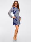 Платье из шифона с ремнем oodji #SECTION_NAME# (синий), 11900150-3/13632/7510O - вид 6