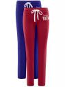 Комплект трикотажных брюк (2 пары) oodji для женщины (разноцветный), 16700045T2/46949/6