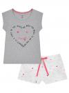 Пижама хлопковая с принтом oodji #SECTION_NAME# (серый), 56002220-5/49940/2012Z