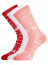Комплект из трех пар хлопковых носков oodji для женщины (разноцветный), 57102902-4T3/10231/13 - вид 2