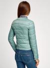 Куртка стеганая с круглым вырезом oodji для женщины (зеленый), 10203050-2B/47020/6C01N - вид 3