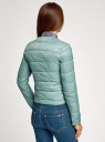 Куртка стеганая с круглым вырезом oodji #SECTION_NAME# (зеленый), 10203050-2B/47020/6C01N - вид 3