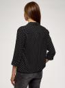 Блузка вискозная с отложным воротником oodji для женщины (черный), 11403231B/26346/2910D