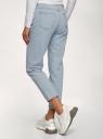 Джинсы mom fit с завышенной посадкой oodji для женщины (синий), 12105110/45254/7000W