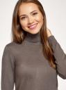 Свитер вязаный базовый oodji для женщины (коричневый), 74412005-5B/45647/3700M
