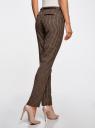 Брюки базовые с ремнем oodji для женщины (коричневый), 11701029-2B/22124/3339C
