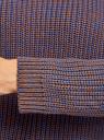 Джемпер удлиненный меланжевый oodji для женщины (коричневый), 73807605-3B/50066/3775M