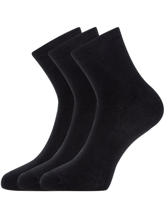 Комплект из трех пар носков oodji для женщины (черный), 57102466T3/47469/2900N