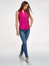 Топ базовый из вискозы oodji для женщины (розовый), 14911008-1B/48756/4701N - вид 6
