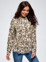 Блузка вискозная А-образного силуэта oodji #SECTION_NAME# (белый), 21411113B/42540/1231E - вид 2