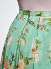 Юбка в складку из струящейся ткани oodji для женщины (бирюзовый), 23G00009B/17358/7341F - вид 5