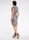 Платье трикотажное с ремнем oodji #SECTION_NAME# (бирюзовый), 24008033-2/16300/7333E - вид 3
