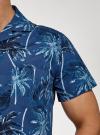 Рубашка принтованная с коротким рукавом oodji #SECTION_NAME# (синий), 3L410132M/19370N/7570G - вид 5