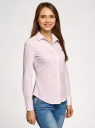 Блузка приталенная в горошек oodji для женщины (розовый), 11403227/46079/1040G