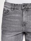 Шорты джинсовые с потертостями oodji #SECTION_NAME# (серый), 6L220021M-1/46627/2300W - вид 4