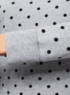 Свитшот принтованный с круглым вырезом oodji для женщины (серый), 14807021-1/46919/2329D - вид 5