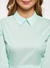 Блузка базовая с баской oodji #SECTION_NAME# (зеленый), 11400444B/42083/6501N - вид 4