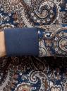 Свитшот принтованный прямого силуэта oodji #SECTION_NAME# (синий), 14807011-1/42992/7937E - вид 5