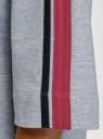 Платье прямого силуэта с надписью на груди oodji #SECTION_NAME# (серый), 14008030-1/46173/2049Z - вид 5