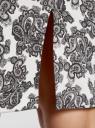 Платье-майка трикотажное oodji #SECTION_NAME# (белый), 14015007-3B/37809/1223E - вид 5