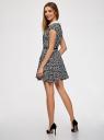 Платье принтованное с воротником oodji #SECTION_NAME# (черный), 11900194/24808/2910F - вид 3