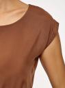 Платье вискозное без рукавов oodji #SECTION_NAME# (коричневый), 11910073B/26346/3701N - вид 5