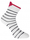 Комплект из трех пар хлопковых носков oodji для женщины (белый), 57102802-3T3/47613/31 - вид 3