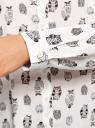 Блузка вискозная прямого силуэта oodji #SECTION_NAME# (белый), 11411098-3/24681/1229O - вид 5