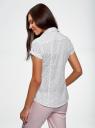 Рубашка из хлопка принтованная oodji для женщины (белый), 11402084-3/12836/1029D