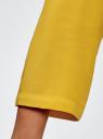 Платье вискозное с ремнем oodji #SECTION_NAME# (желтый), 11900180B/42540/5700N - вид 5