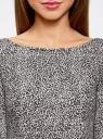 Платье трикотажное принтованное oodji для женщины (серый), 14001150-3/33038/1229A