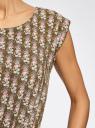 Платье вискозное без рукавов oodji #SECTION_NAME# (зеленый), 11910073B/26346/6645O - вид 5