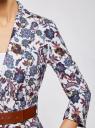 Жакет льняной с широким ремнем oodji для женщины (разноцветный), 21202076-2/45503/1262E