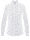 Рубашка базовая с нагрудным карманом oodji #SECTION_NAME# (белый), 11403205-9/26357/1075G
