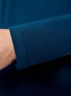 Платье трикотажное облегающего силуэта oodji для женщины (синий), 14001183B/46148/7901N - вид 5