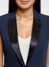 Жилет удлиненный приталенный oodji для женщины (синий), 12300099-4/18600/7900N - вид 4