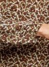 Блузка свободного кроя с вырезом-капелькой oodji #SECTION_NAME# (бежевый), 21400321-2/33116/3349E - вид 5