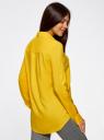 Блузка базовая из вискозы oodji для женщины (желтый), 11400355-3/26346/5100N